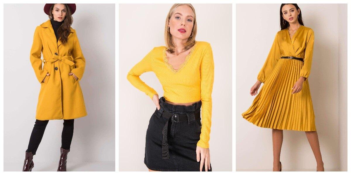 Damskie ubrania w kolorze żółtym illuminating