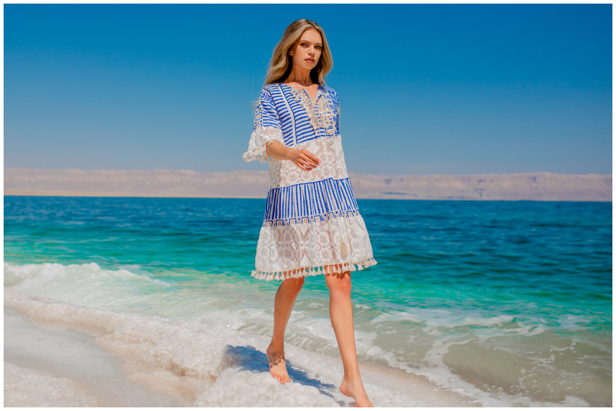Hurtownia sukienek damskich - zwiewna midi na lato