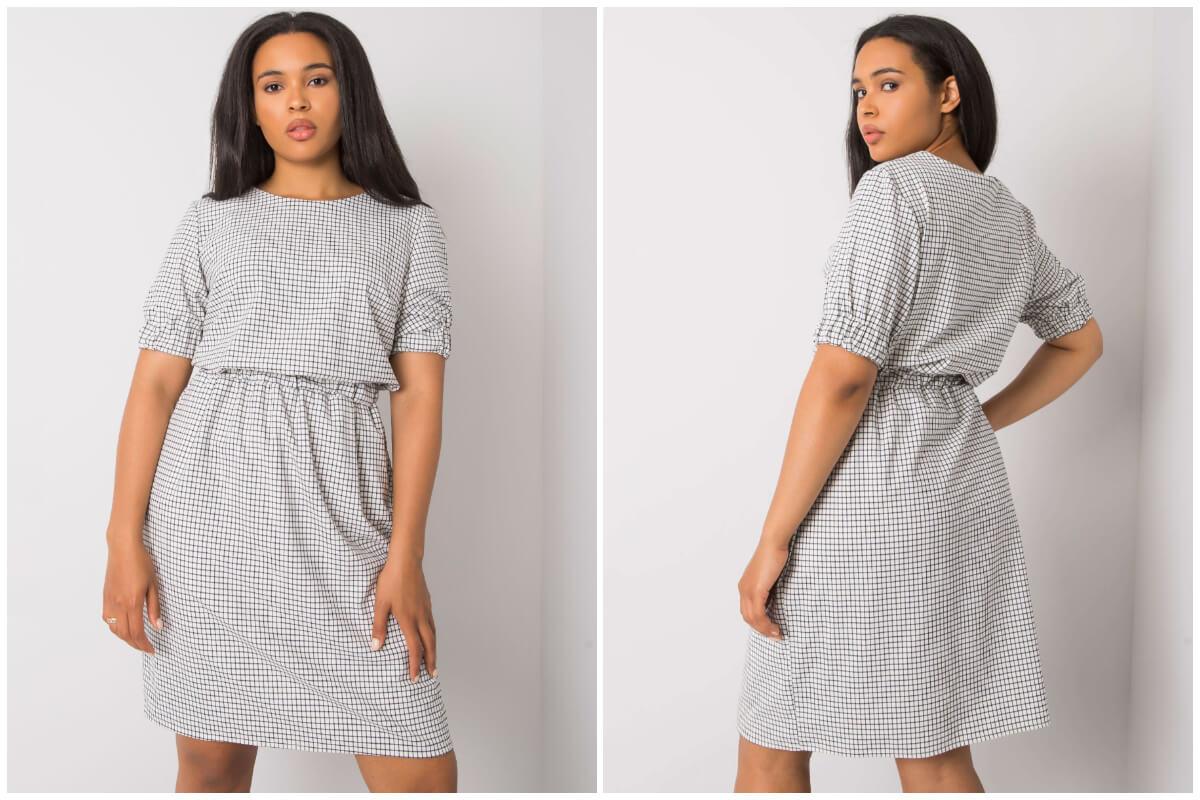Sukienki plus size w kratę hurt