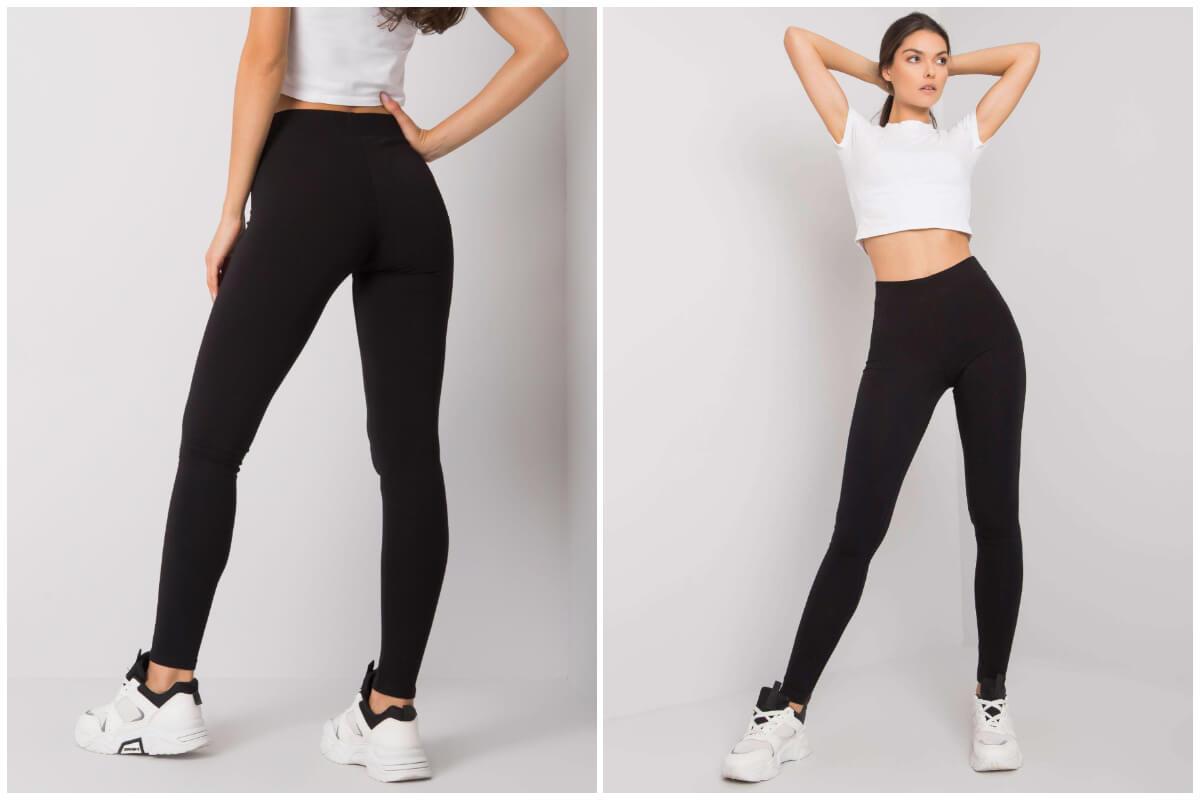 Czarne legginsy basic w hurtowni